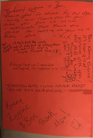 Thank You From HMP Bronzefield