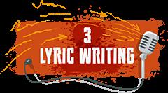 Lyric writing sub heading graphic